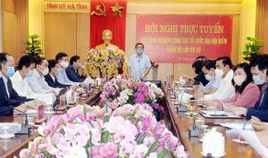 Hà Tĩnh: Hội nghị trực tuyến rút kinh nghiệm công tác tổ chức đại hội điểm đảng bộ cấp cơ sở