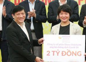 Diana Unicharm ủng hộ 2 tỷ chống dịch Covid-19