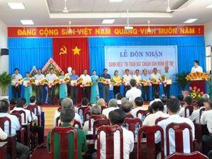 Thị trấn Vàm Láng đón nhận Danh hiệu đạt chuẩn 'Văn minh đô thị'