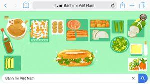 Google Doodles tôn vinh bánh mì Việt Nam