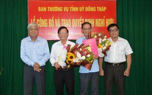 Trao quyết định nghỉ hưu cho 3 cán bộ lãnh đạo Báo Đồng Tháp và Đảng ủy Khối các cơ quan
