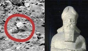 Nghi vấn tượng thần cổ đại xuất hiện trên sao Hỏa