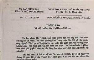 Thành phố Hồ Chí Minh: Thuế vẫn thu, nhà cứ lấy