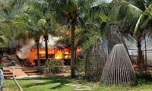 Cháy 2 khu nhà hàng, quán bar ở Mũi Né