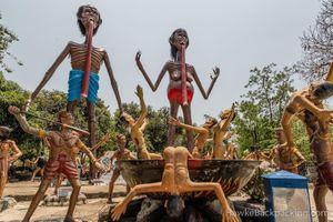 Vườn địa ngục càng đi vào sâu càng đáng sợ ở Thái Lan