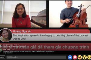 Các nghệ sĩ hòa nhạc trực tuyến cho công chúng thưởng thức tại nhà