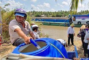 Hỗ trợ nước sinh hoạt đến các vùng hạn, mặn