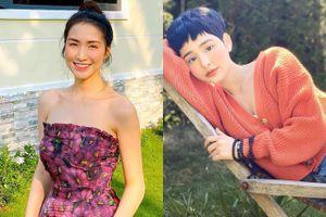 Hòa Minzy mặc váy hoa khoe vai thon, Hiền Hồ ít trang điểm khi ở nhà
