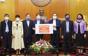 Ban Nội chính Trung ương ủng hộ Quỹ phòng chống dịch Covid-19