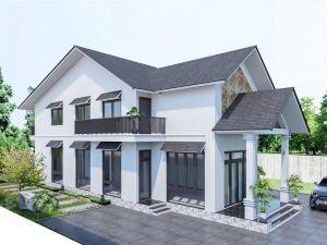 Những mẫu nhà 2 tầng đẹp, đơn giản