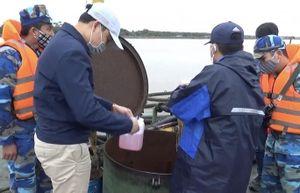 Cảnh sát biển tạm giữ 105.000 lít dầu nhớt bất hợp pháp