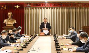 Bí thư Thành ủy Hà Nội Vương Đình Huệ làm việc với Ủy ban Kiểm tra Thành ủy