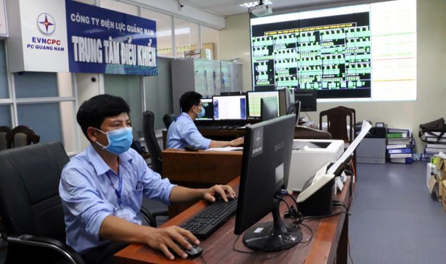 Điện lực Quảng Nam đảm bảo vận hành lưới điện ổn định mùa dịch