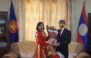 Đại sứ quán Việt Nam tại Mông Cổ chúc Tết cổ truyền Lào