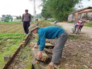 Yên Định: Nguy cơ thiếu nước canh tác do mương nội đồng xuống cấp