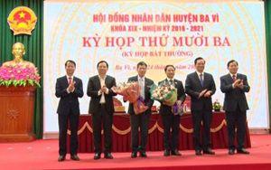 Đồng chí Đỗ Quang Trung giữ chức vụ Phó Chủ tịch UBND huyện Ba Vì