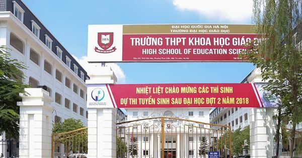 Năm 2020, trường THPT Khoa học Giáo dục tuyển 400 chỉ tiêu lớp 10