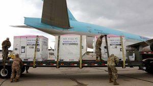 Bang của Mỹ điều Vệ binh Quốc gia bảo vệ kit xét nghiệm