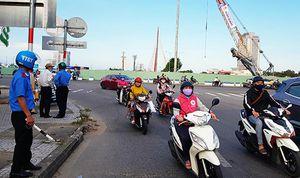 Phân luồng phương tiện trong thời gian thi công cụm nút giao thông phía Tây cầu Trần Thị Lý