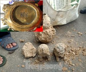 Đào móng làm nhà ở Bình Dương, phát hiện nhiều tượng đồng kỳ lạ