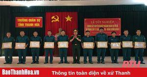 92 học viên tốt nghiệp trung cấp chuyên nghiệp ngành quân sự cơ sở và trung cấp lý luận chính trị - hành chính khóa 9