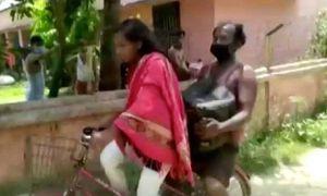 Không có tiền, cô bé 15 tuổi đạp xe 1200km đưa bố về quê