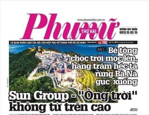 Báo điện tử Phụ nữ TPHCM bị tước giấy phép vì loạt bài liên quan đến Sungroup