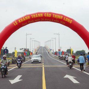 Nam Định khánh thành cây cầu nghìn tỷ vượt sông Ninh Cơ