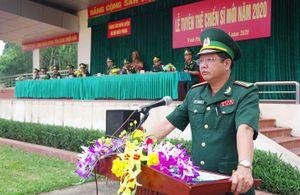 Lễ tuyên thệ cho 445 chiến sĩ mới tại Trung tâm Huấn luyện BĐBP
