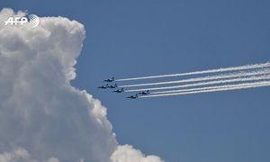 Màn nhào lộn ấn tượng của Lực lượng Không quân Nhật Bản