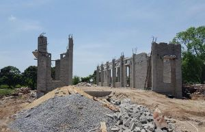 Hà Nội: Sập mái nhà văn hóa thôn, không có thiệt hại về người