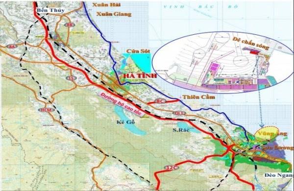 Hà Tĩnh: Từ 10/6 sẽ rà soát hướng tuyến đường cao tốc đoạn Bãi Vọt - Vũng Áng