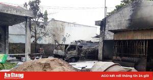 Xác định danh tính tài xế tử vong trong vụ cháy xe bồn chở dầu