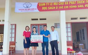 Toyota hỗ trợ nâng cấp điểm trường tiêu chuẩn tại Sơn La