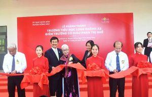 Khánh thành trường tiểu học ở huyện biên giới Đồng Tháp