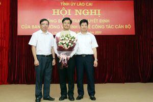 Phó Chánh Văn phòng UBND tỉnh làm Chánh Văn phòng Tỉnh ủy Lào Cai