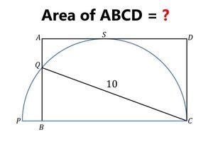 Bài toán hình chữ nhật và hình bán nguyệt