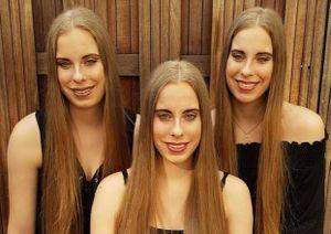Mẹ than phiền vì 3 con gái làm gì cũng hệt nhau, không thể phân biệt
