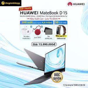 Huawei MateBook D15 ra mắt người dùng Việt: màn hình tràn viền, camera ẩn, bảo mật vân tay giá 16 triệu