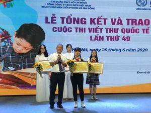 Trao giải cuộc thi Viết thư quốc tế UPU lần thứ 49 năm 2020
