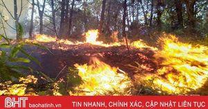 2 lần dập tắt đám cháy tại Thượng Lộc, các lực lượng tiếp tục 'canh lửa'