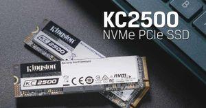 Kingston ra mắt ổ SSD NVMe PCIe KC2500 thế hệ mới với hiệu năng mạnh mẽ, bảo mật