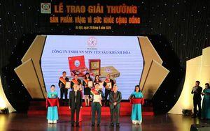 Yến sào Khánh Hòa nhận giải thưởng 'Sản phẩm vàng vì sức khỏe cộng đồng năm 2020