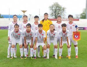 Đội dự tuyển trẻ nữ U.16 Việt Nam tham dự Giải bóng đá nữ vô địch U.16 quốc gia 2020