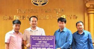 Hỗ trợ hơn 200 triệu cho người lao động khó khăn Cienco1