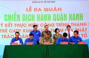 Tuổi trẻ Công an TP Hồ Chí Minh ra quân Chiến dịch tình nguyện Hành quân xanh