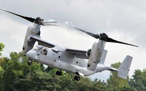 Nhật Bản tiếp nhận 2 'chim ưng biển' V-22 Osprey đầu tiên từ Mỹ