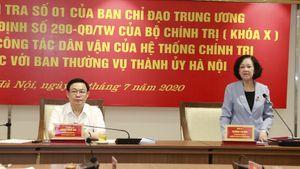 Trưởng ban Dân vận T.Ư Trương Thị Mai: Hà Nội đưa dân vận đi vào thực chất, phục vụ người dân tốt hơn