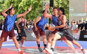 Sôi nổi các trận đấu tại Giải bóng rổ phong trào HBF 3x3