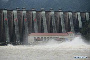 Các đập tỉnh An Huy đồng loạt xả lũ khi nước sông Hoài vượt báo động